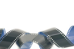 Tira enrolado do filme fotográfico de 35mm Fotografia de Stock