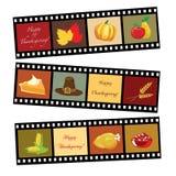 Tira feliz de la película de la acción de gracias Imagen de archivo libre de regalías