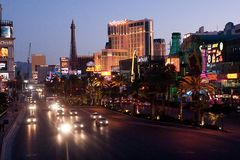 A tira/Las Vegas Imagens de Stock Royalty Free