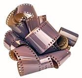 tira pouco desenvolvida do filme de 35mm Fotografia de Stock Royalty Free
