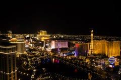 Tira principal de Las Vegas, Nevada Foto de archivo
