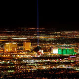 Tira South End de Las Vegas Imagen de archivo libre de regalías