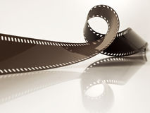 Tira subdesarrollada de la película Fotos de archivo libres de regalías