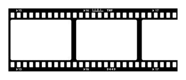Tira velha da película ilustração royalty free