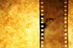 Tira velha da película fotografia de stock