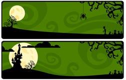 Tira verde em um tema de Halloween ilustração royalty free