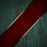 Tira vermelha em um fundo de madeira Imagem de Stock
