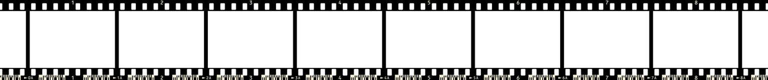 Tira x 8 da película Imagens de Stock