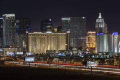 Tira y tráfico de Las Vegas Foto de archivo libre de regalías