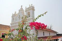 Tiracol fort Biała kościół katolicki katedra w forcie Fortre fotografia stock