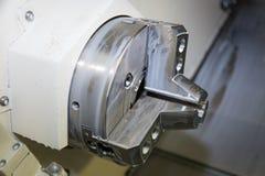 Tirada hidráulica 8 Tire detrás del poder Chuck Fixture es ideal para el uso que trabaja a máquina en la máquina del CNC Imagenes de archivo