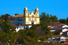 Tiradentes Brasile della chiesa del Matriz de Santo Antonio Fotografia Stock Libera da Diritti