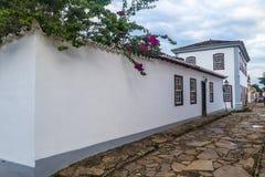 Tiradentes-Herbergesgebäude stockfoto