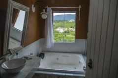 Tiradentes hostel bathroom stock photos