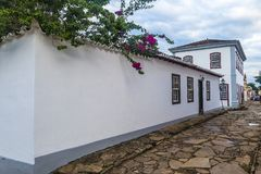 Tiradentes hostel building stock photo