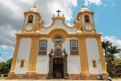 Tiradentes, Minas Gerais, Brazil – November 06, 2020: Matriz de Santo Antonio Church, Colonial city of Tiradentes, Minas Gerais