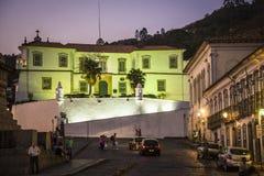 Mining School University building, Ouro Preto, Minas Gerais, Brazil stock images