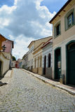 The Tiradentes streets. The stone streets of Tiradentes shows the beauty of the area Royalty Free Stock Photos