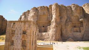 Tirado de la necrópolis histórica de los reyes persas almacen de video