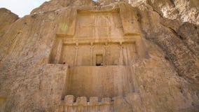 Tirado de la necrópolis histórica de los reyes persas almacen de metraje de vídeo