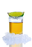 Tirado de tequila Fotografía de archivo