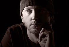 Tirado de un varón deprimido Imagen de archivo libre de regalías