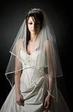 Tirado de una novia adolescente triste Imagen de archivo libre de regalías