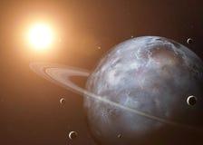 Tirado de Urano tomado de espacio abierto collage imagenes de archivo