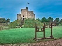 Tirado del castillo de Cardiff imagenes de archivo