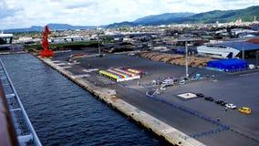 tirado del puerto ocupado de tsuruga de Japón en la prefectura de Fukui metrajes