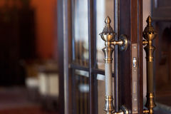 Tirador de puerta imágenes de archivo libres de regalías