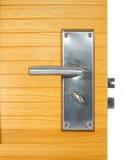 Tirador de puerta de aluminio Fotos de archivo