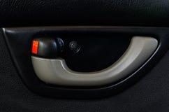 Tirador de puerta interior del coche Foto de archivo