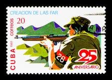 Tirador, 25to aniversario del serie de la revolución, circa 1981 Imágenes de archivo libres de regalías