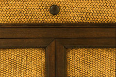 Tiradores de puerta de madera Imagen de archivo