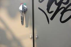 Tiradores de puerta del primer foto de archivo