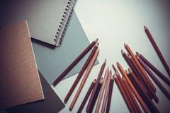 Tiragem com lápis Foto de Stock Royalty Free