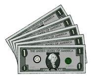Tiragem de notas de dólar dos E.U. imagem de stock
