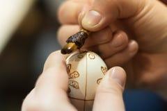 Tiragem em ovos da páscoa fotografia de stock