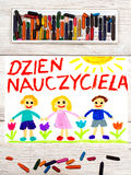 Tiragem: O polonês exprime o DIA do ` S do PROFESSOR Imagem de Stock