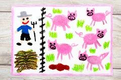 tiragem: Porcos da criação de animais ilustração royalty free