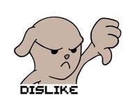 Tiraggio arrabbiato del cane illustrazione di stock