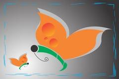 Tiraggio artistico dell'illustrazione di arti della farfalla di arte di vettore di colore del nero animale del fondo Fotografie Stock Libere da Diritti