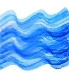 Tiraggio blu dell'onda dell'acquerello illustrazione di stock