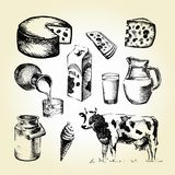 Tiraggio del latte Fotografie Stock Libere da Diritti