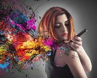 Tiraggio del tatuaggio Fotografie Stock Libere da Diritti