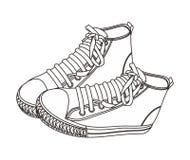 Tiraggio dell'arroganza della scarpa Immagini Stock Libere da Diritti