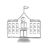 Tiraggio dell'edificio scolastico illustrazione vettoriale