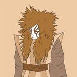 Tiraggio dell'uomo di Kabuki illustrazione vettoriale