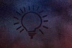 Tiraggio della lampadina fotografia stock